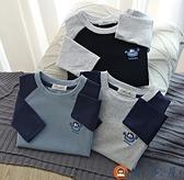 男童長袖T恤衫中大童插肩袖t恤寶寶圓領打底衫【淘夢屋】