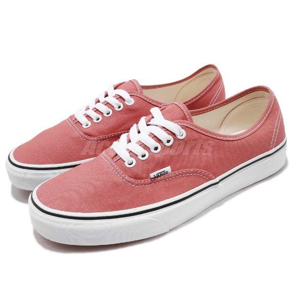【六折特賣】Vans Authentic 基本款 粉紅 白 復古 低筒 滑板鞋 基本款 休閒鞋 男鞋【PUMP306】 73010123