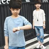 男童長袖t恤春裝2019新款童裝男孩純棉春秋款上衣中大兒童體恤衫