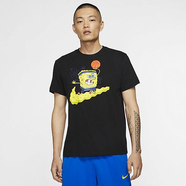 IMPACT Nike Kyrie Irving Spongebob 海綿寶寶 派大星 黑 短T CD0949-010