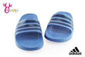 adidas拖鞋 足弓型 防水拖鞋 中大童 P9358#藍色◆OSOME奧森鞋業