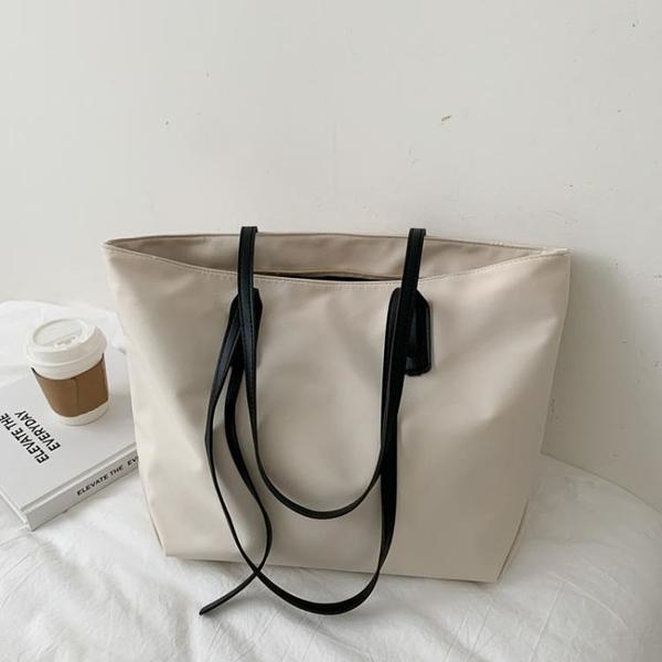 通勤包 包包女大容量單肩包2021新款時尚尼龍帆布托特包女通勤牛津布大包