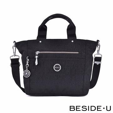 Backbager 背包族【英國 BESIDE-U】Letter系列輕巧簡約手提包/斜背包/側背包/手拿包_黑色