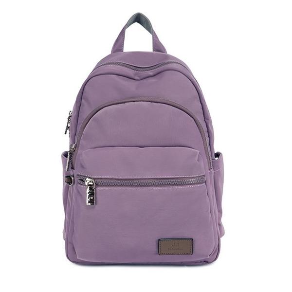 【南紡購物中心】J II 後背包-多隔層防潑水後背包-薰衣草紫-6390-19