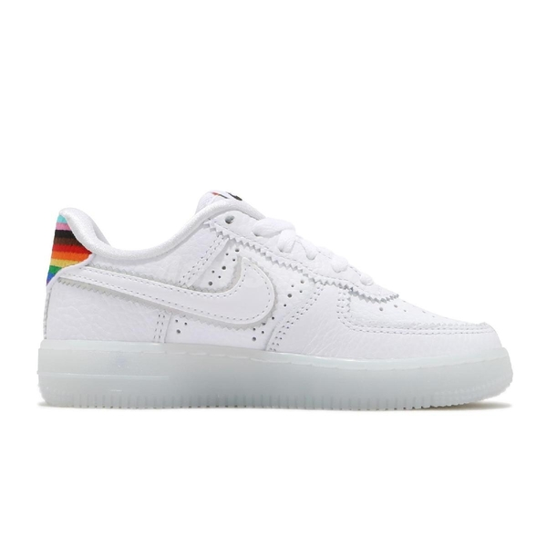 Nike 休閒鞋 Air Force 1 BETRUE PS 白 彩色 童鞋 中童鞋 彩虹 AF1 運動鞋【PUMP306】 CW7439-100