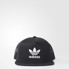 adidas 帽子 Trefoil Trucker Cap 可調整 卡車帽 黑 白 棒球帽 男女款 穿搭必備【PUMP306】 BK7308 BK7308