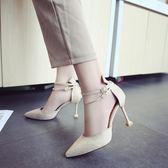 網紅包頭涼鞋女夏季新款仙女風學生百搭一字帶扣高跟鞋細跟 CY潮流站