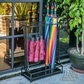 家用傘架子北歐創意雨具收納架鐵藝放傘筒摺疊酒店大堂辦公雨傘架CY 自由角落