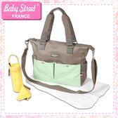 法國品牌雙色機能肩背包/側背包/媽媽包 baby street E-BS02-R