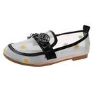 【Taroko】純潔小黃花鏤空網紗平底休閒鞋(2色可選)