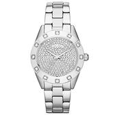 DKNY 璀璨靈魂晶鑽時尚腕錶(鋼帶-銀-大)