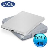 LaCie Mobile Drive USB-C 4TB USB3.0 外接硬碟 STHG4000400 銀 STHG4000402 灰