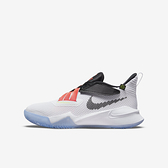 Nike Zoom Flight 2 Gs [DB6708-100] 大童鞋 籃球鞋 運動 避震 魔鬼氈 包覆 白 黑