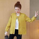 【GZ2A1】小外套女春秋短款春裝新款潮寬鬆外衣百搭棒球服薄款休閒夾克