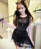 成人情趣性感裸背女仆女傭制服套裝   花間公主