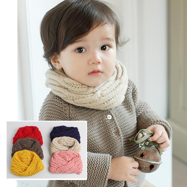 童裝  針織麻花圍脖圍巾  中性款 新年寒流 橘魔法 聖誕節保暖推薦現貨 聖誕紅圍巾