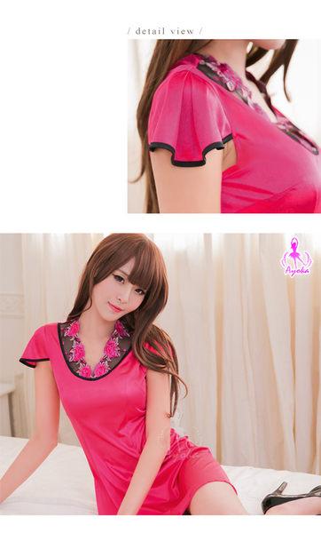 角色扮演 桃紅色中國風旗袍角色扮演服 SEXYBABY 性感寶貝 WNA16020035
