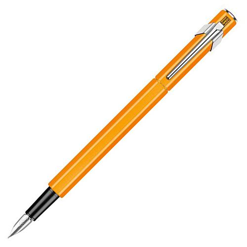 瑞士卡達CARAN D'ACHE 849 鋼筆螢光橘