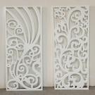 客廳鏤空花格隔斷裝飾歐式背景墻PVC吊頂雕花板實木玄關屏風木雕
