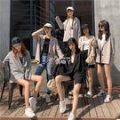 西裝外套 女裝韓版時尚百搭寬鬆復古純色格...