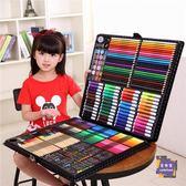 水彩筆 兒童水彩筆套裝幼兒園小學生蠟筆無毒繪畫工具美術用品畫畫筆T