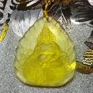 開光臧哈些玻黃財神琉璃護身符項鏈
