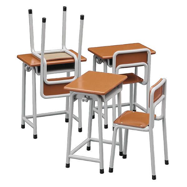 長谷川 Hasegawa 組裝模型 1/12 可動人偶用 學校用課桌椅 FA01