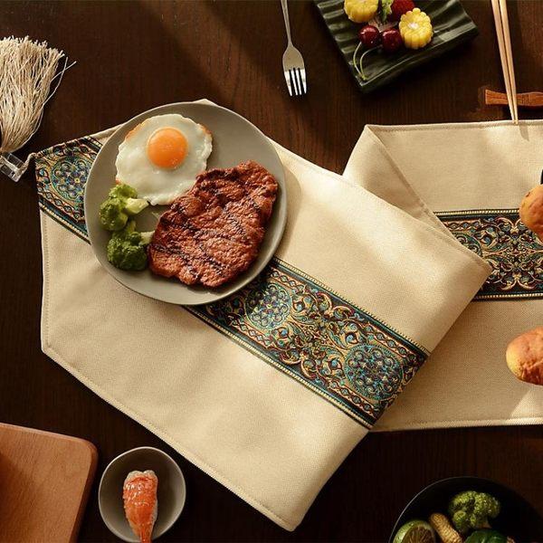 新中式禪意桌旗現代簡約歐式美式餐桌布鞋櫃電視櫃蓋巾床旗床尾巾YTL·皇者榮耀3C