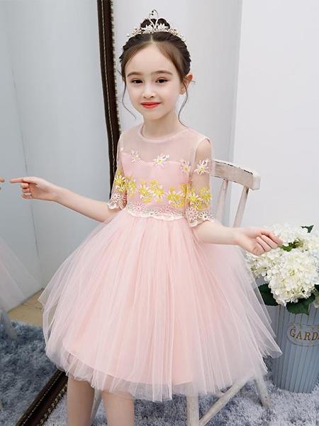 夏款仙女連衣裙女童公主裙超仙2021兒童蓬蓬紗裙女孩洋氣禮服裙子 霓裳細軟
