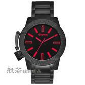 LICORNE     MK-2帥氣手錶-黑x紅刻度