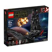 75256【LEGO 樂高積木】星際大戰Star Wars系列 凱羅·忍的戰鬥機 Kylo Ren s Shuttle(1005pcs)