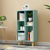 簡易書架簡約現代置物架落地桌上櫃子學生創意格子櫃自由組合書櫃FA