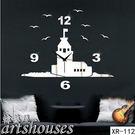 XR-112【海鷗城堡掛鐘鏡面壁貼】進口...