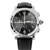 Valentino范倫鐵諾 三眼計時典藏款真皮手錶 日期窗功能 柒彩年代【NE1319】