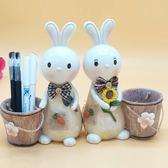 存錢筒可愛卡通個性筆筒創意時尚桌面裝飾擺件學生收納筆袋可當存錢罐    花間公主