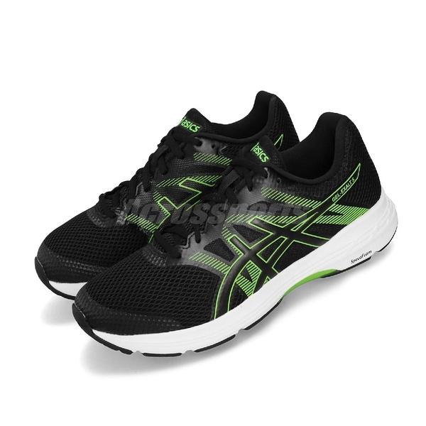 Asics 慢跑鞋 Gel-Exalt 5 黑 綠 低筒 男鞋 運動鞋 【ACS】 1011A162002