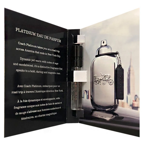 COACH platinumml 紐約白金淡香精 2ml 針管(96911) 【娜娜香水美妝】