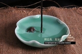 陶瓷日本臥香爐蓮花