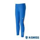 K-SWISS Solid Leggings運動內搭褲-女-藍