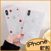 滴膠愛心月亮iPhone7 Plus手機殼 XR保護殼XS max iPhone8 plus透明殼i6splus防摔殼 i7 Plus殼