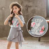 女童夏裝套裝韓國時尚時髦洋氣中大童兒童夏季兩件套裙潮【東京衣秀】