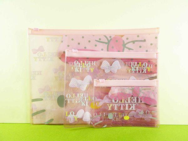 【震撼精品百貨】Hello Kitty 凱蒂貓~3入拉鍊袋~粉【共1款】