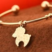 玫瑰金 純銀手環-韓版可愛小羊流行生日母親節禮物女飾品71ap62【巴黎精品】