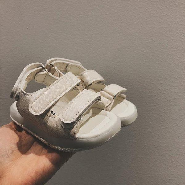 男童鞋底發光涼鞋2018夏季新款 兒童正韓休閒防滑軟底居家沙灘鞋【萬聖節鉅惠】