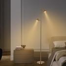 客廳臥室雙頭落地燈北歐ins風led極簡輕奢觸摸可調光立式台燈
