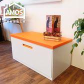置物櫃 穿鞋椅【TAW023】居家簡約風座椅置物兩用鐵櫃 Amos