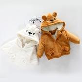 限定款鋪棉厚外套 寶寶棉衣男女刷毛外套冬季01一2歲新生兒童加厚冬裝短版嬰幼兒小棉襖3