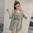 雪紡短袖兩件套女裝2020夏裝新款韓版小...
