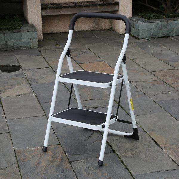 加厚家用鐵梯子二三步人字折疊兩用便攜防滑扶梯凳小樓梯踏板洗車 MKS薇薇