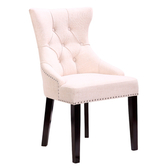 【YFS】昆娜胡桃米白布餐椅-54x63x94cm